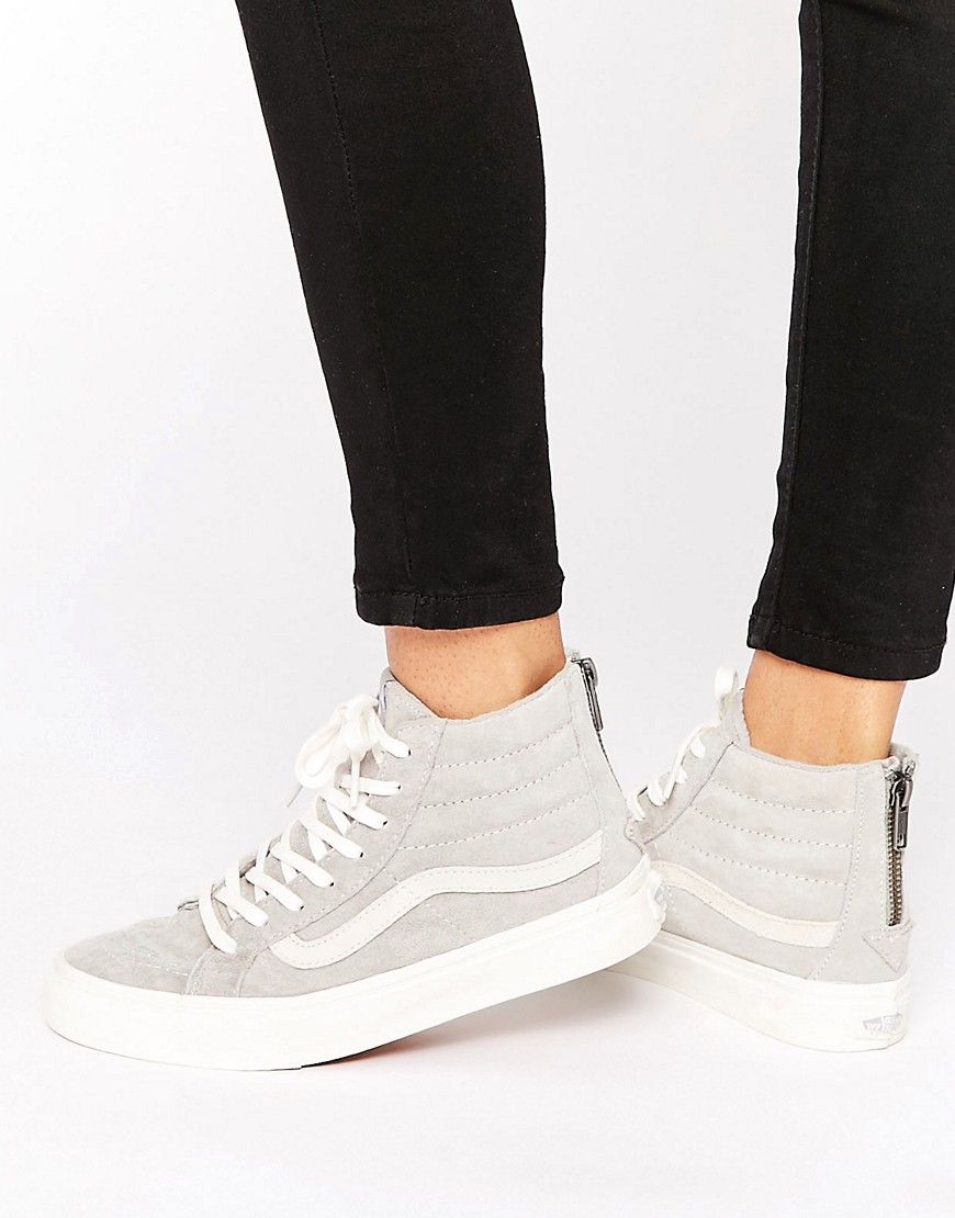 Image 1 of Vans Sk8-Hi Slim Grey Suede Trainers
