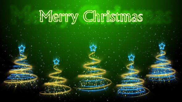 Merry Christmas Trees Background 49 (HD)