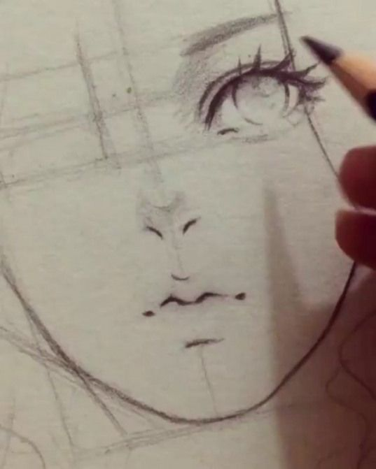 ???? How to draw semi realistic eyes and lip ????? What do you think ? ???? Follow the artist ???? ???? Artis #animedrawing #anime #drawing #lips