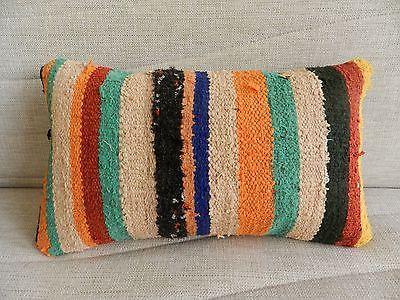 lumbar kilim pillow 12 x 20 vintage kilim sofa pillow throw pillow kilim pillow | eBay!