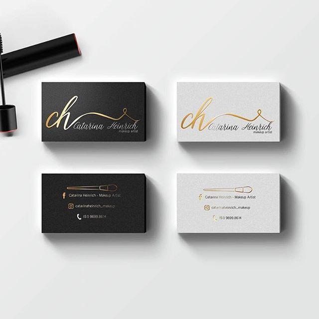 Cartoes de visita para a id da catarina heinrich makeup for Makeup artist business cards examples