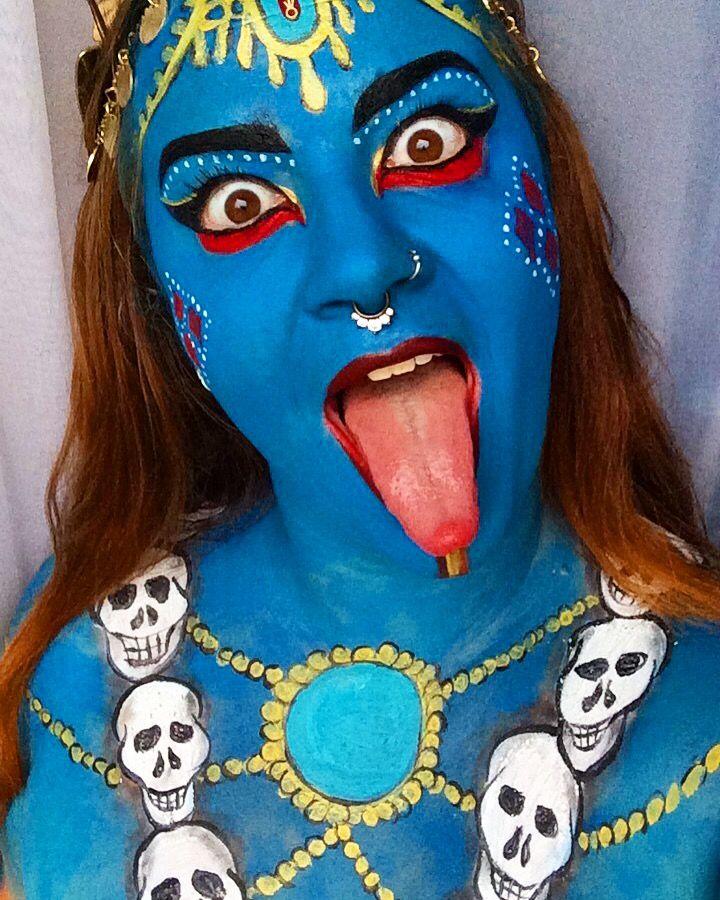 Halloween Makeup 2017 Goddess Kali artyfaceart Art by