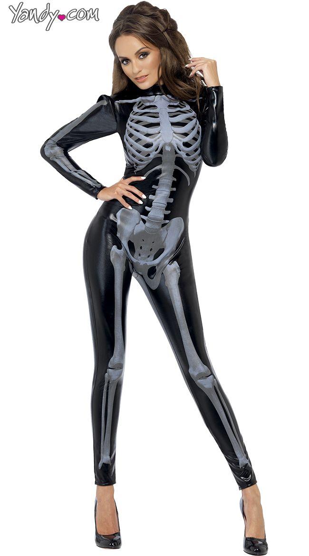 Sexede knogler Kostume Geek Girls Cosplay Sexet skelet-8731