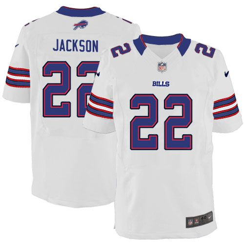 mens nike nfl buffalo bills 22 fred jackson elite white jersey 129.99