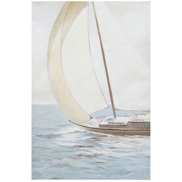 Madison Park Sail Away Canvas Wall Art ($55) ❤ liked on Polyvore featuring home, home decor, wall art, blue, blue canvas wall art, blue wall art, vertical canvas wall art, canvas wall art and blue home decor