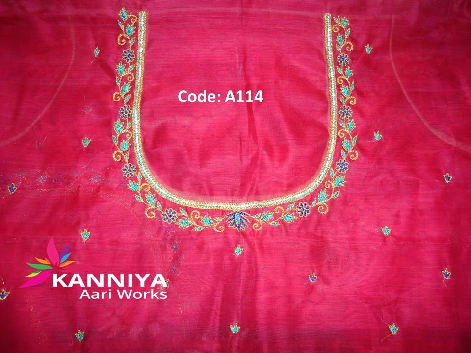 Simple Thread Work Kanniya Aari Works Pinterest Blouse Designs