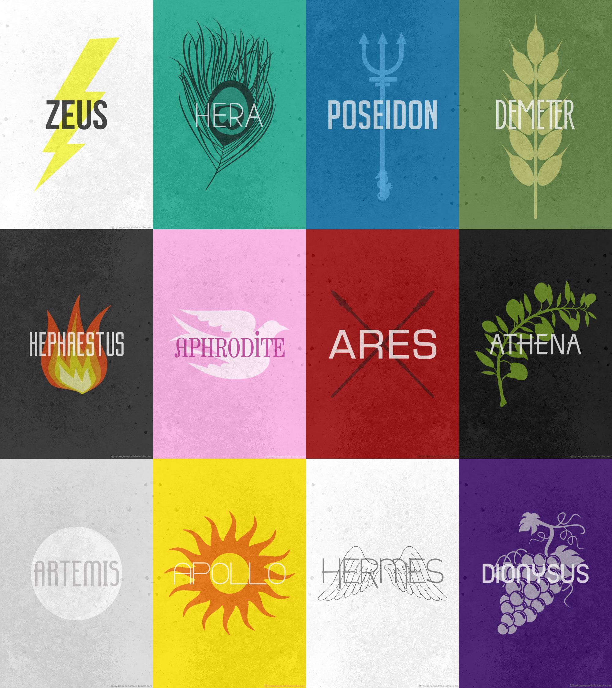 the twelve olympians posters mythology pinterest