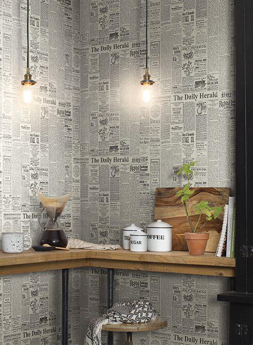 Option For Theme Environment Decor Hang Newspaper Like Wallpaper