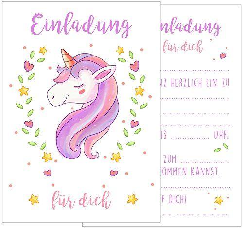 Set 12 Einladungskarten Einladungen Kindergeburtstag Gebu... Https://www. Amazon
