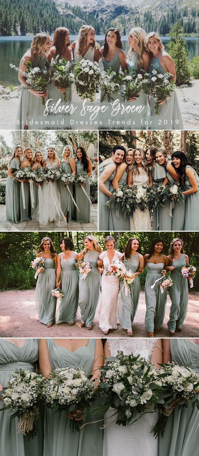 Trending: 30 Silver Sage Green Theme Wedding Ideas that You Can't Miss #sagegreendress