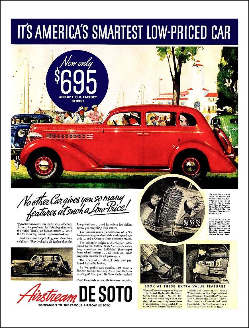 1935 DeSoto Airstream Ad \
