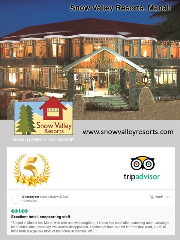 Pin by Snowvalley Resorts on Hotels In Manali in 2019   Trip