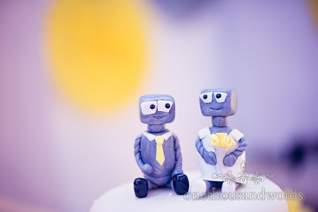 Robot wedding cake toppers at marriot hotel bournemouth our