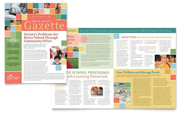 Microsoft Word 2007 Newsletter Templates for children
