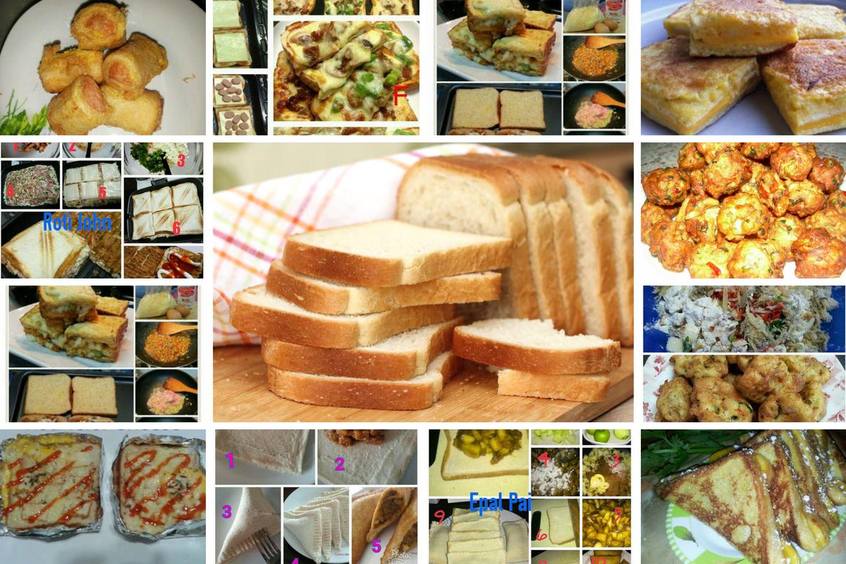 13 Resipi Viral Menggunakan Roti Putih Yang Popular Selera Kita Myberita Hokaloh News Roti Easy Meals Food
