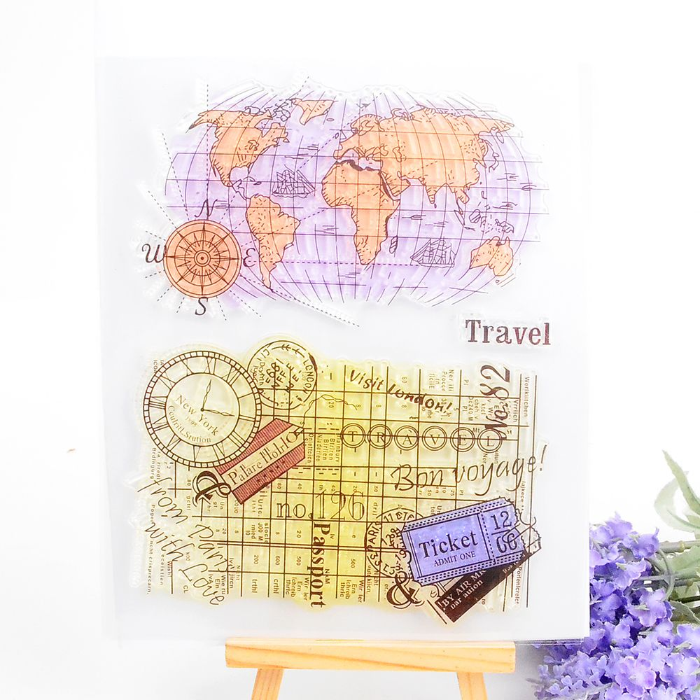 Globe world map clear stamp for scrapbooking diy photo album paper globe world map clear stamp for scrapbooking diy photo album paper card making silicone seal transparent gumiabroncs Gallery