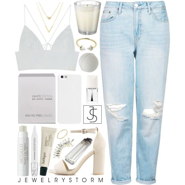 Geen titel #371 by s-ensible on Polyvore featuring Topshop, Nly Shoes, ASOS, Jurlique, Christian Dior, Sephora Collection, Ex Voto Paris and Nest