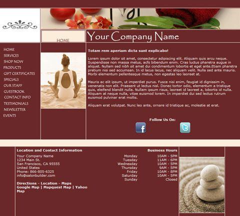 Progressive Brick Website Design Template for Spas