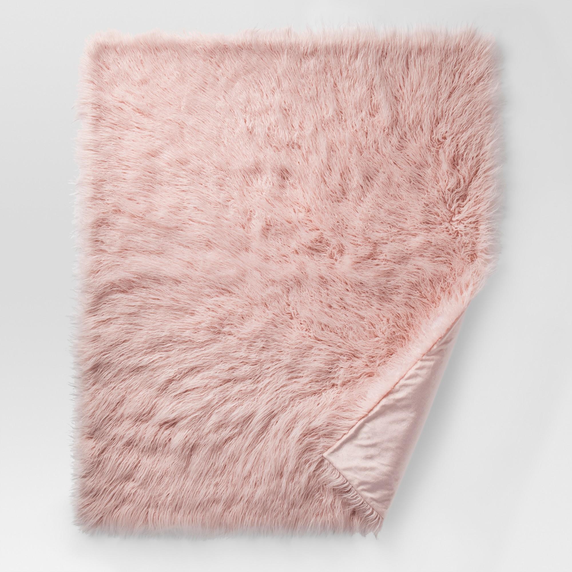 Pink Mongolian Faux Fur Throw Blankets 50 X60 Project 62 Fur Throw Blanket Faux Fur Throw Faux Fur Throw Blanket