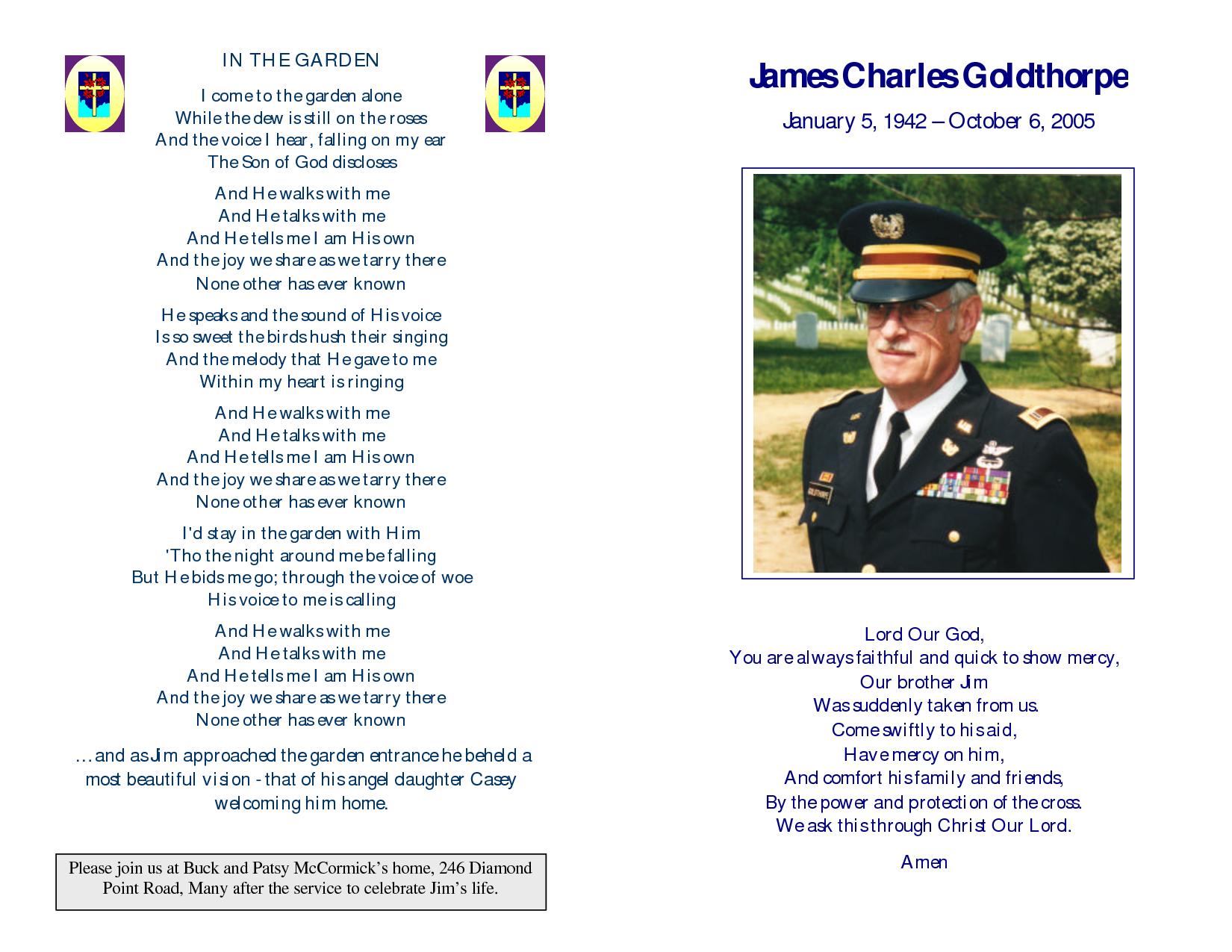 memorial service programs sample | Memorial Service Program for ...