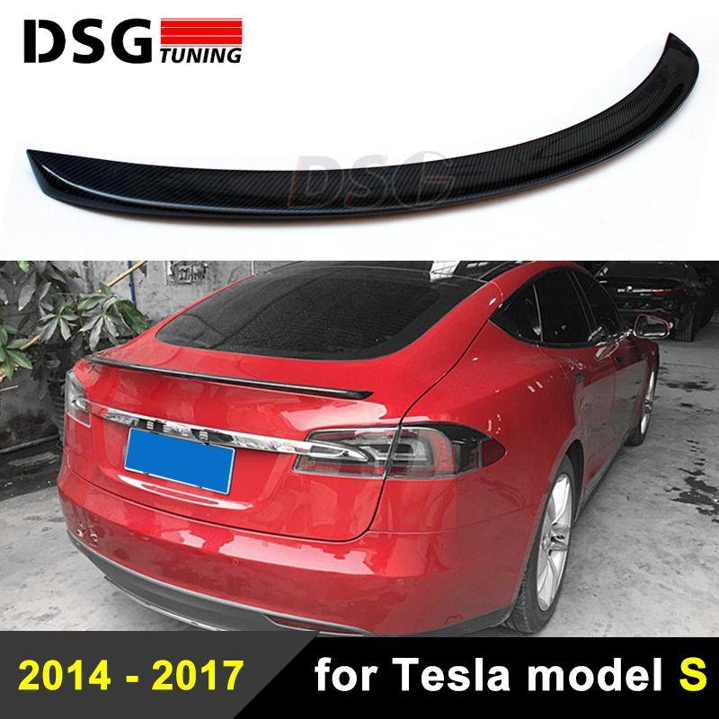 for Tesla Model S Carbon Fiber Spoiler Rear bumper spoiler Wing
