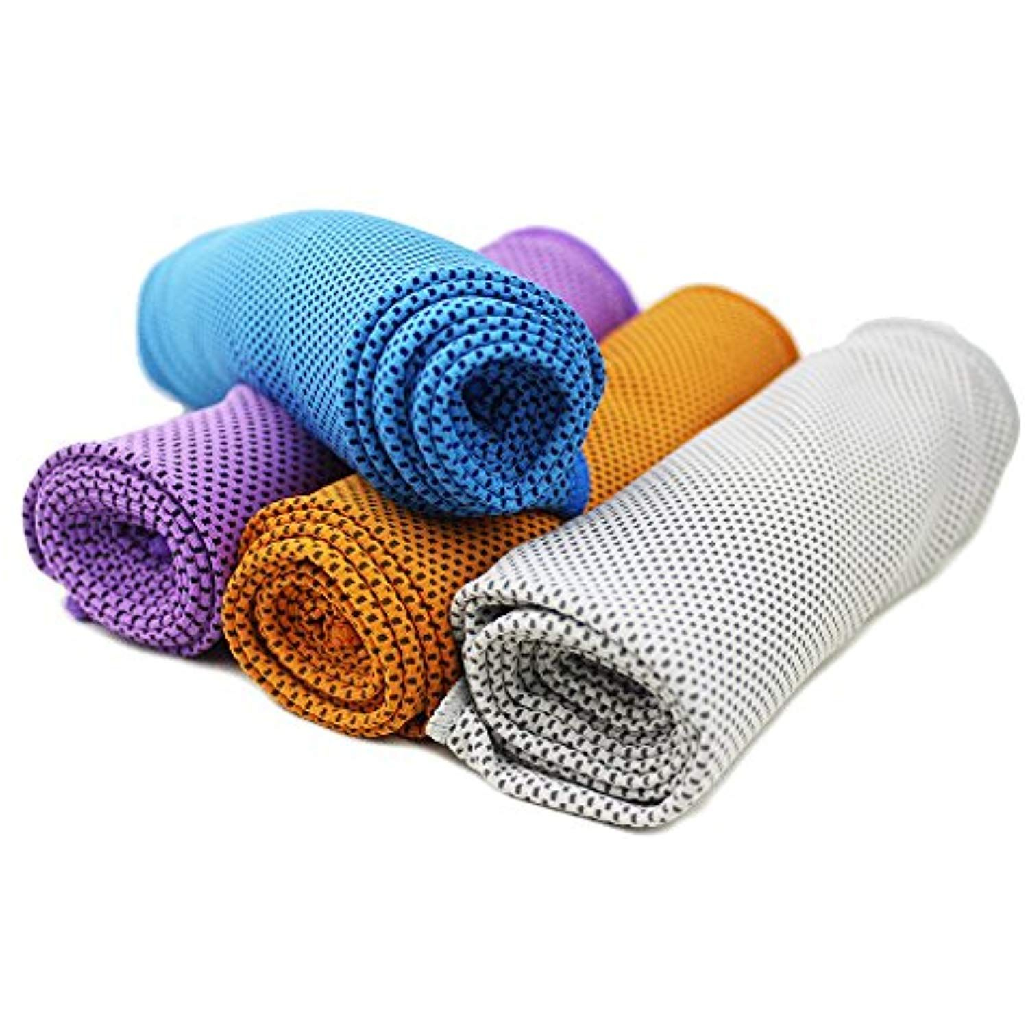Cooling Towel 4 Packs Magic Ice Towels 40 X12 Snap For Sports Gym Fitness Yoga Traveling Camping And Outdoor