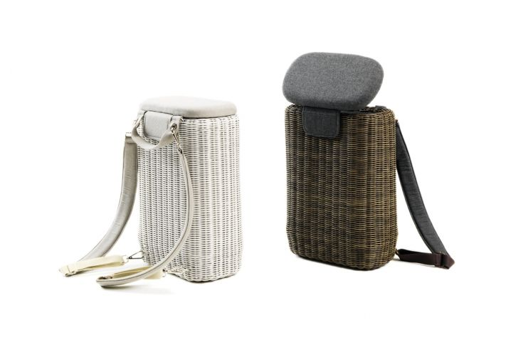 Backpack and outdoor stool: the new ethimo project zaino e
