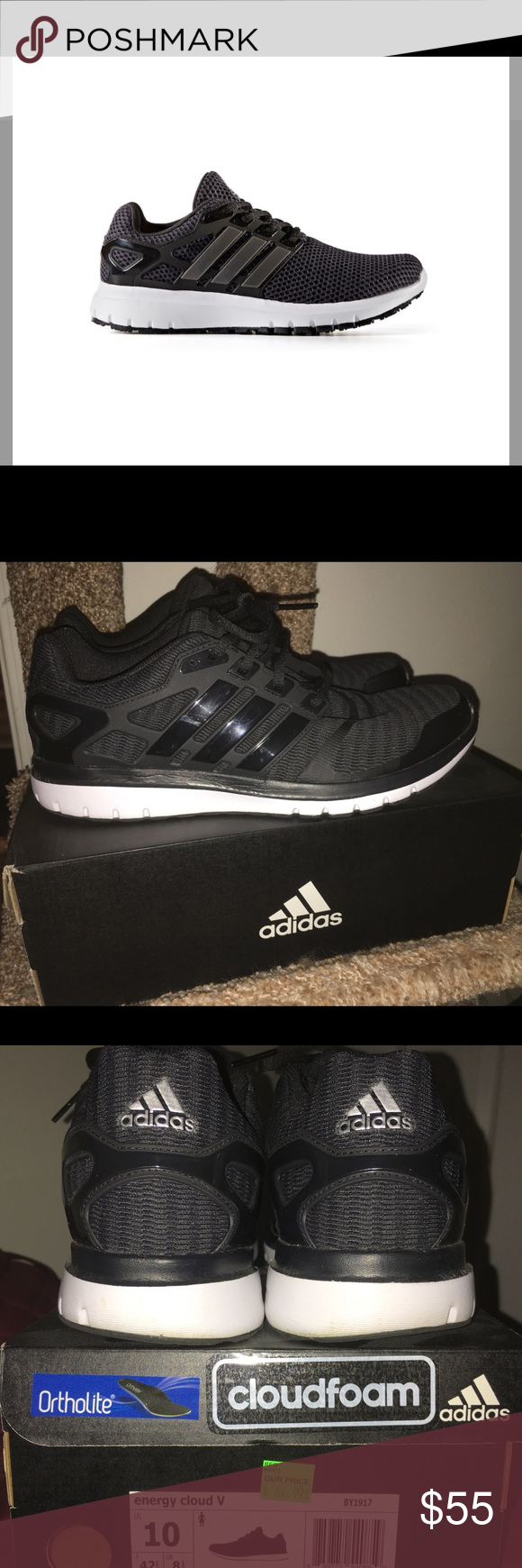 Adidas Energy Cloud V zapatillas zapatos 10m mujer 's corriendo zapatos zapatillas dccd81