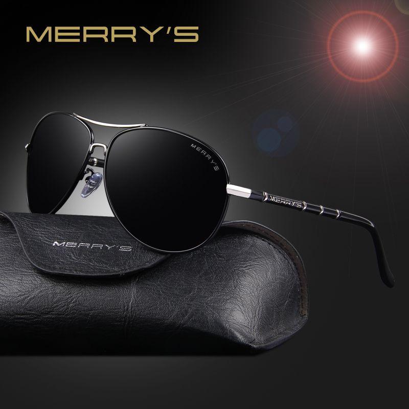 721c851bb0f MERRY S Fashion Classic Brand Aviation Sunglasses Men HD Polarized Aluminum  Driving Luxury Design Mens Sunglasses Shades S 8766