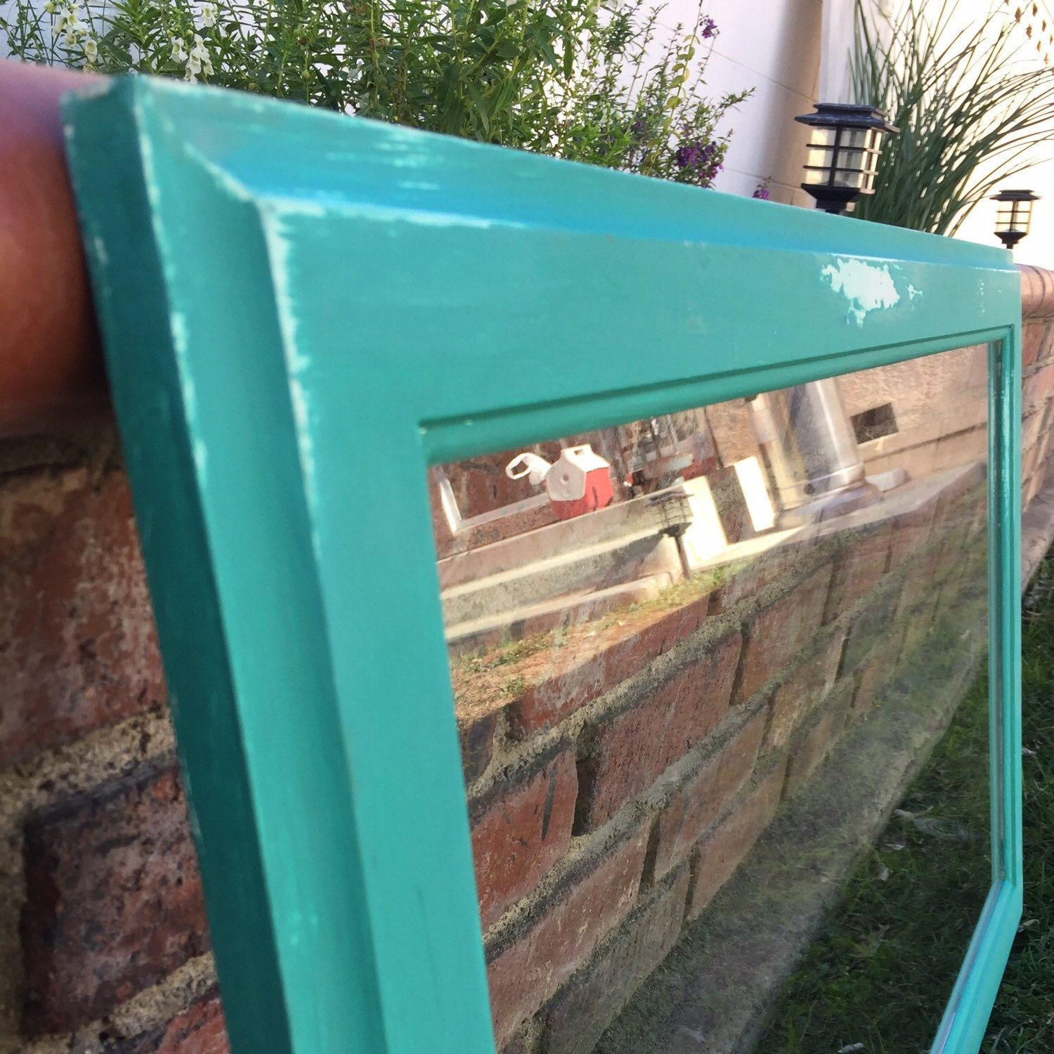 Handmade and distressed antique glass window frames - Annie Sloan ...