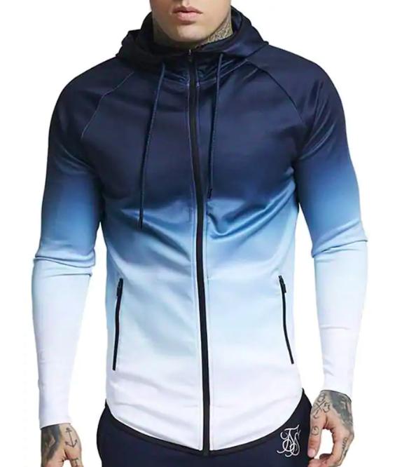 Drawstring Raglan Sleeve Zip Pockets Hoodie Sports