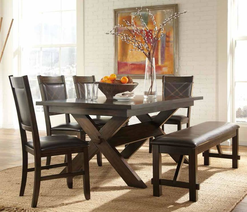 Painting of Awesome Dinette Sets With Bench | Furniture ...