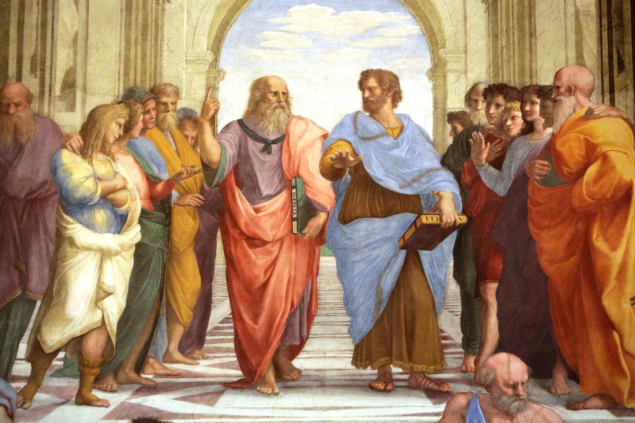 Aristotles Pursuit Of Happiness School Of Athens Plato