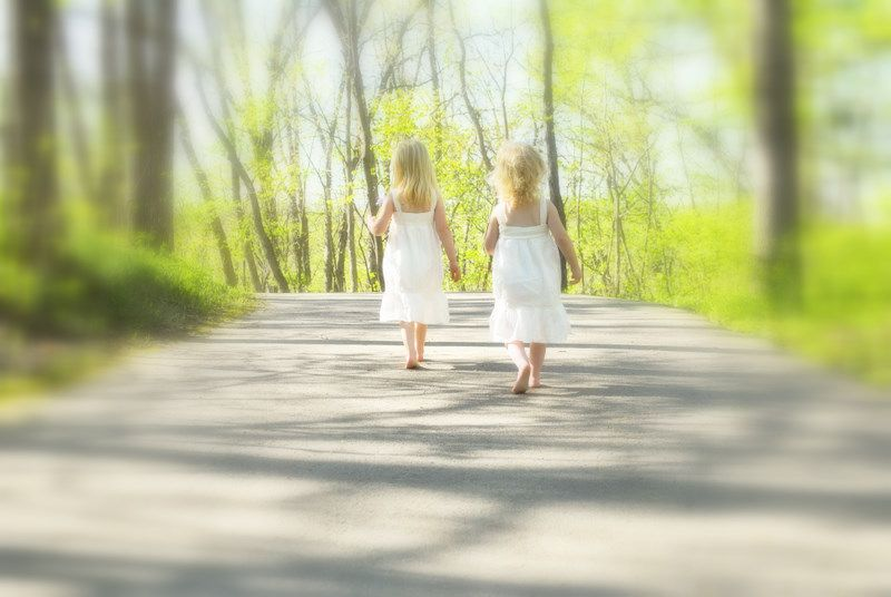 Sisters enjoying nature. (Angelia & Chiara)