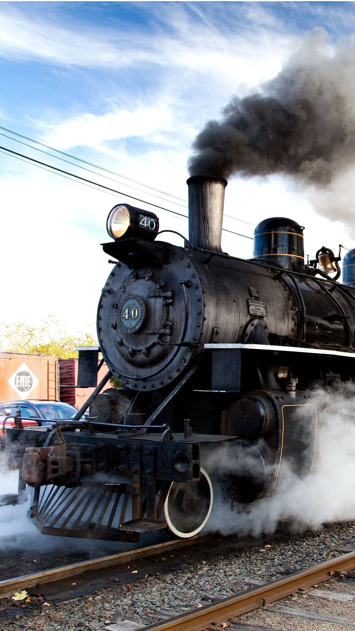 Steam Engine Roaring Down the Track Train, Old trains