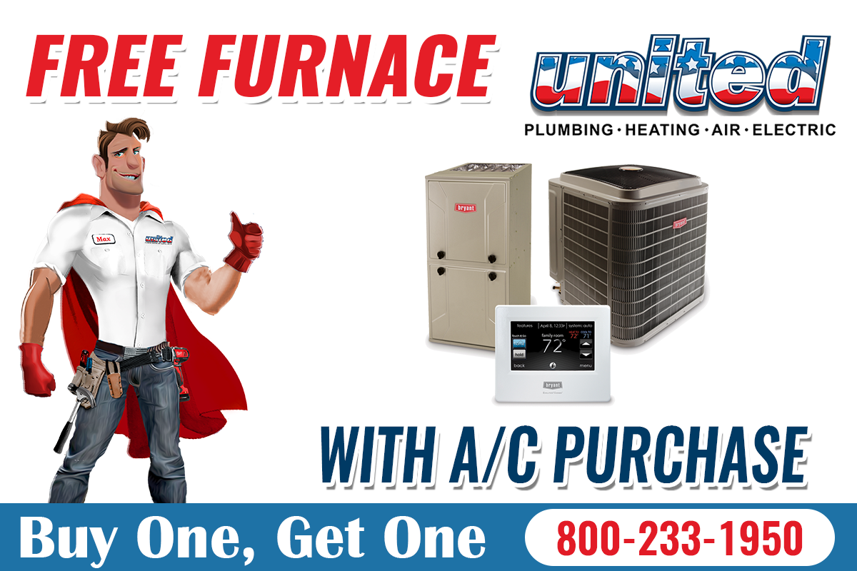 Free Furnace With A/C Purchase Air heating, Air