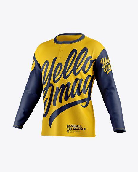 Download Men S Baseball T Shirt With Long Sleeves Mockup Half Side View In Apparel Mockups On Yellow Images Object Mockups Shirt Mockup Clothing Mockup Design Mockup Free