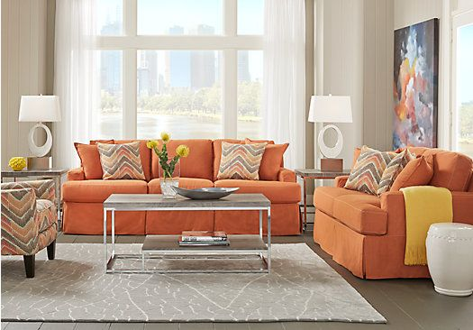 Cindy Crawford Home Cape May Terracotta 7 Pc Living Room Rooms To Go Furniture Living Room Sets Affordable Living Room Set