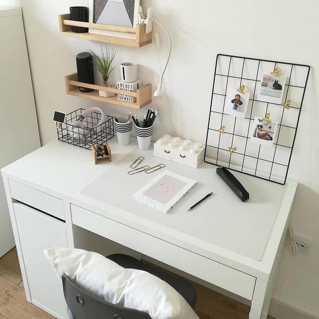 Micke Desk White 105x50 Cm In 2020 Desk For Girls Room Study Room Decor Ikea Girls Room