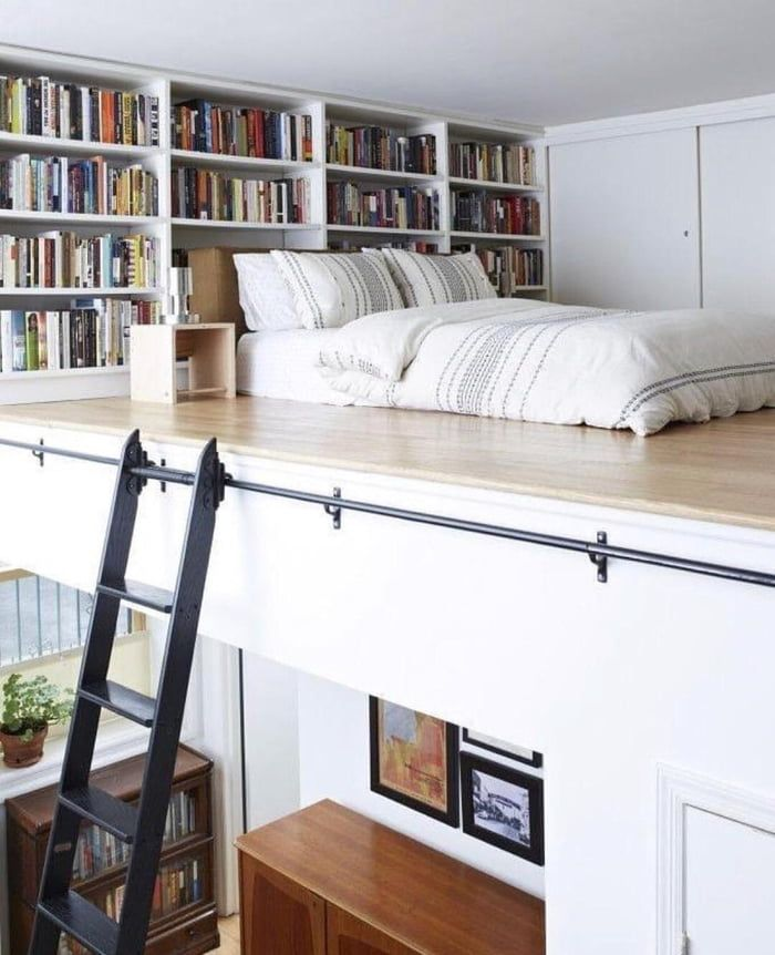 Bed and book nook