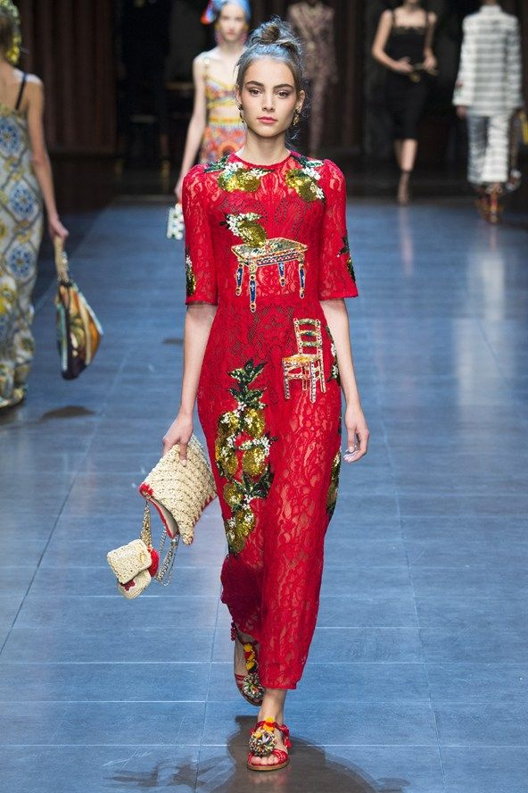 6ee777f7de4 Dolce   Gabbana Spring 2016 Ready-To-Wear