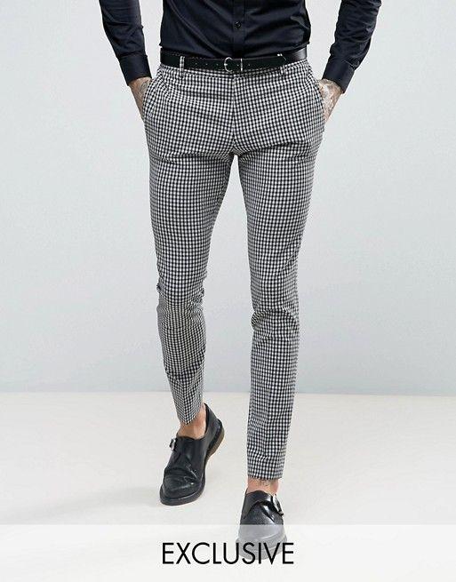 religion pantalon de costume super slim carreaux vichy pantalon de costume vichy et slim. Black Bedroom Furniture Sets. Home Design Ideas
