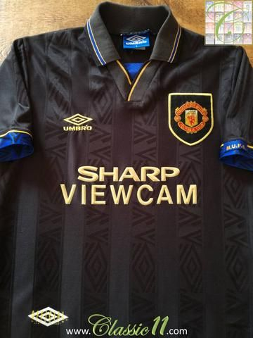 3c340d9c1 Official Umbro Manchester United away football shirt from the 1993 1994  season.
