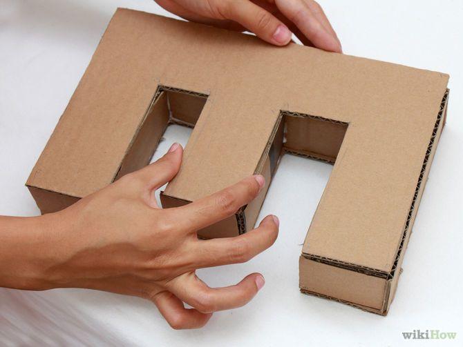 How To Make 3d Letters Diy Monogram Diy Monogram Letters Cardboard Letters