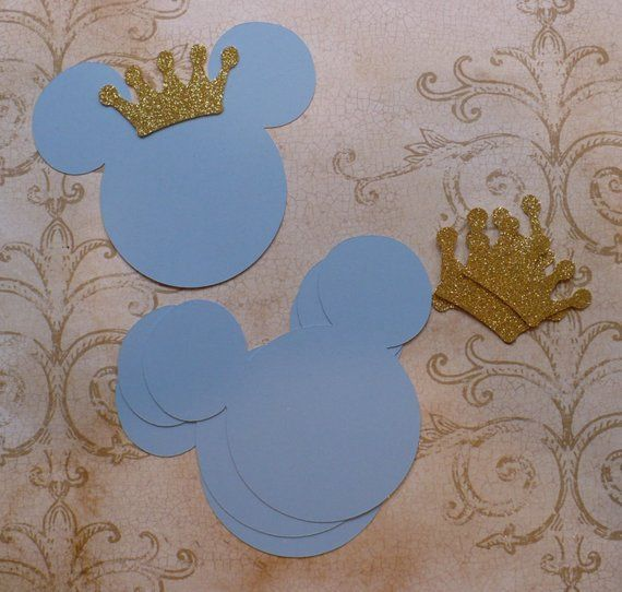 Gold Glitter Mickey Mouse Head Die Cuts