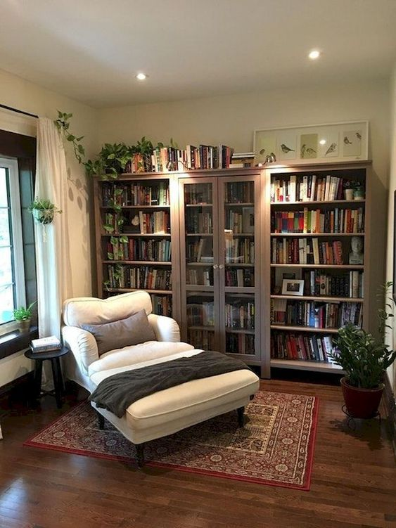 56 Library Area Diy Trending This Summer Home Library Rooms Small Modern Living Room Living Room Decor Apartment