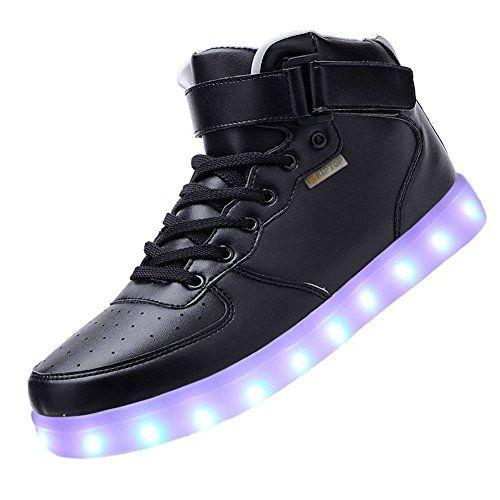 COOLER Unisex 7 Farbe Farbwechsel USB Aufladen LED Leuchtend High-top Sport Schuhe Hoch Sneaker Turnschuhe für Damen Herren - http://on-line-kaufen.de/cooler/cooler-unisex-7-farbe-farbwechsel-usb-aufladen-2
