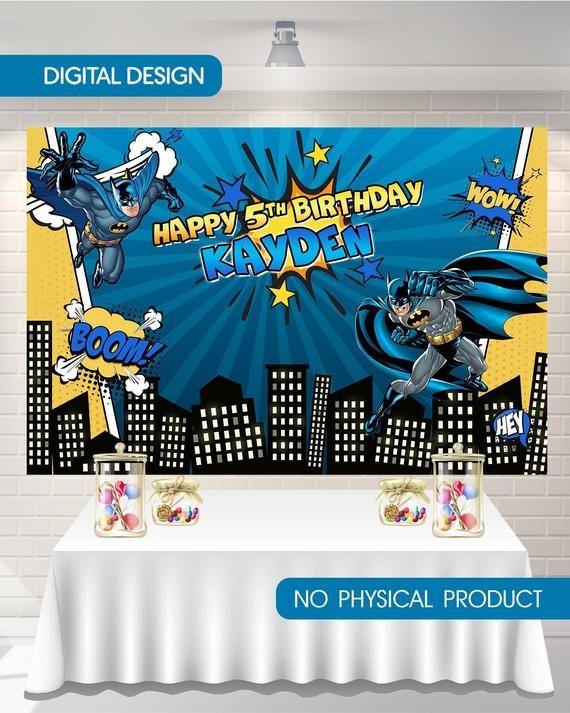 backdrop Batman banner candy bar backdrop digital backdrop  superhero birthday backdrop  This listi