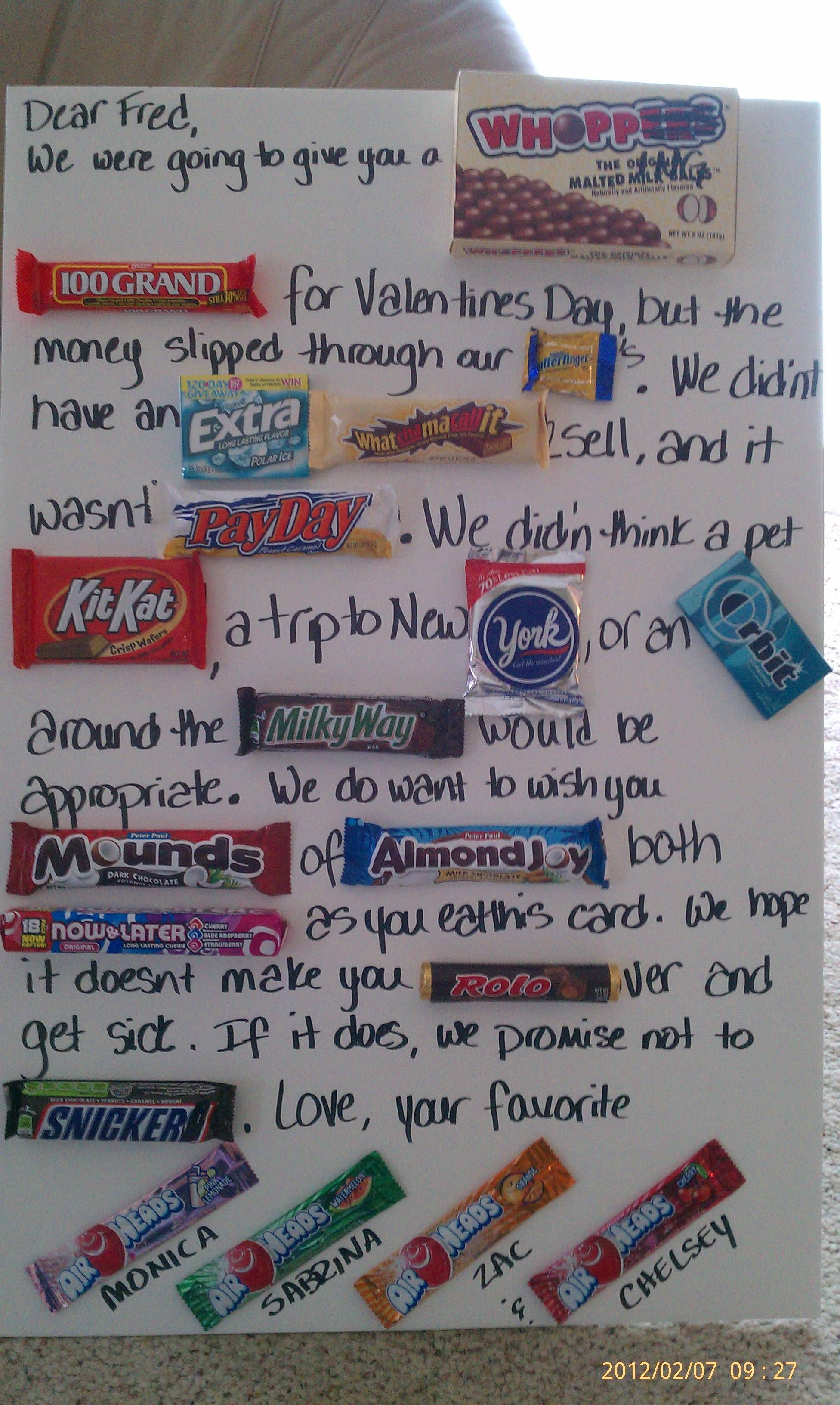Valentines from kids   Candy bar poster, Diy projects for ...