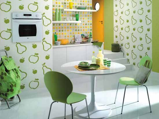 Green Kitchen Paint Colors And Green Wallpapers For Kitchen Decorating